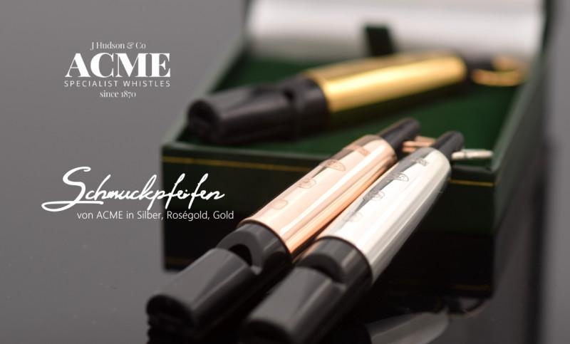 ACME Pfeifen - jetzt neu mit personalisierter Gravur.