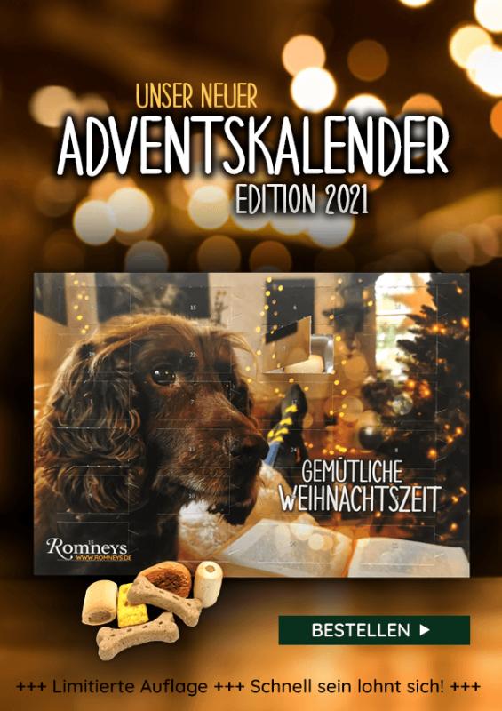 Der ROMNEYS Adventskalender für Hunde 2021