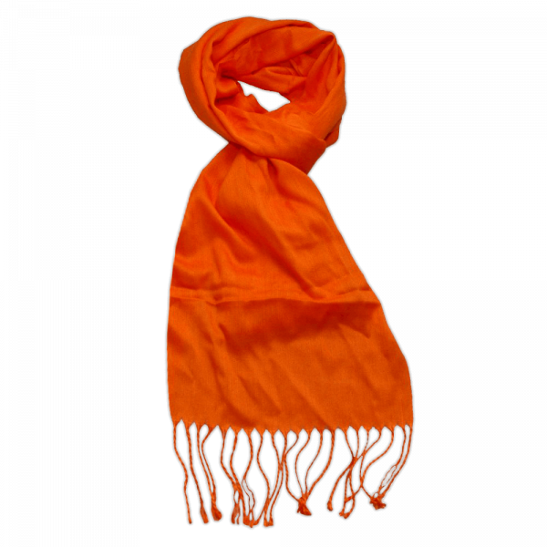 Pashmina Schal, Orange, 180 x 40 cm