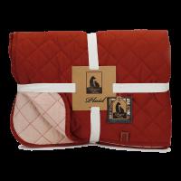 Designed by Lotte Plaid Futon - Überwurf bordeaux-rot/rosa