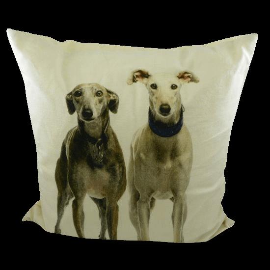 Kissen mit Windhunden