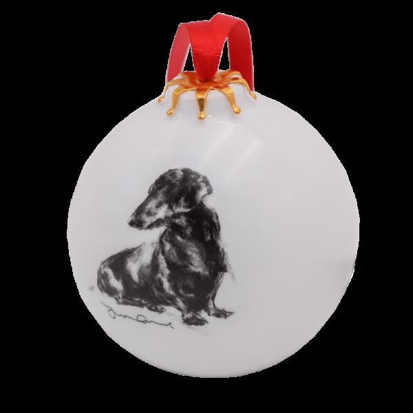 Weihnachtskugel mit Hundegemälde - Victoria Armstrong Collection
