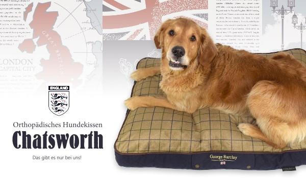 George Barclay - Orthopädisches Hundekissen Chatsworth