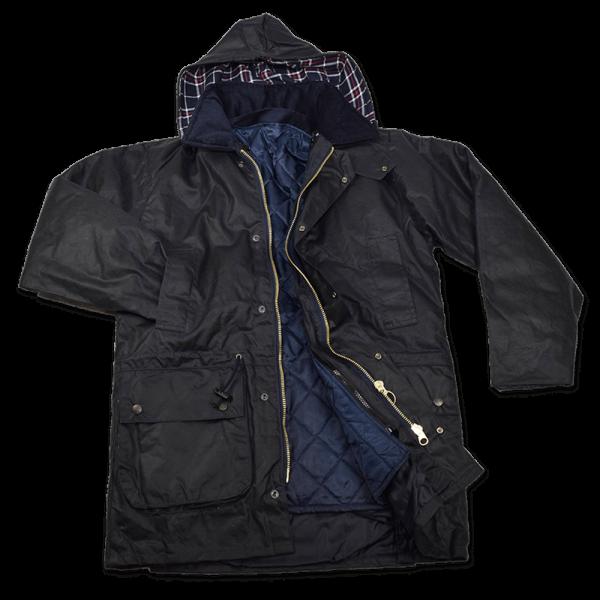 Wachsjacke Rider 3-in-1, navy blau