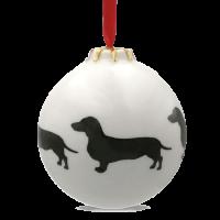 Christbaumkugel mit Hundemotiv Teckel / Dackel / Dachshund