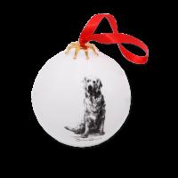 Weihnachtskugel mit Hundegemälde - Victoria Armstrong Collection Golden Retriever