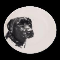 Teller mit Hundegemälden - Victoria Armstrong Collection Labrador