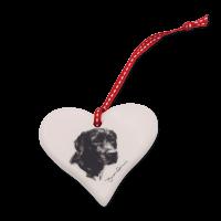 Keramik-Herz mit Hundemotiv Victoria Armstrong Collection Labrador