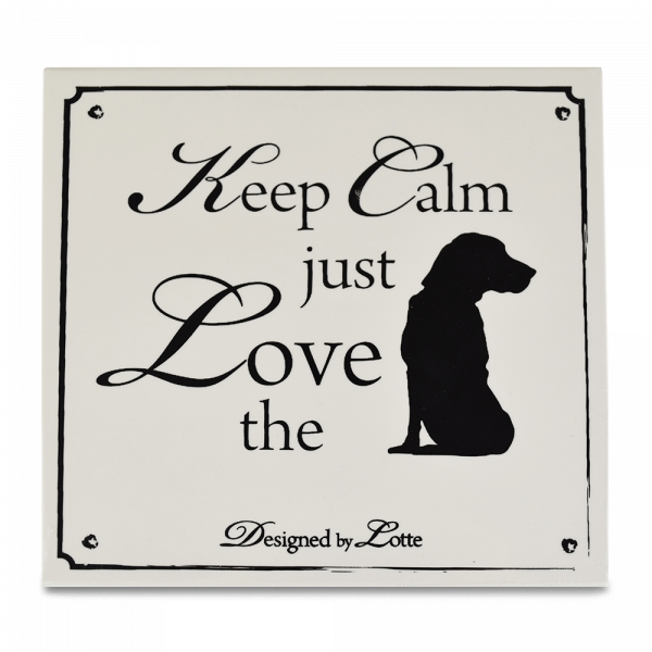 Wandfliese: Keep calm just love the ..., weiss