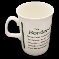 Porzellan Kaffeebecher mit Hundemotiv Border Collie