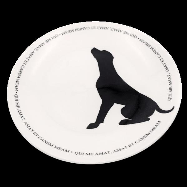 Teller mit Hundemotiv Victoria Armstrong Collection