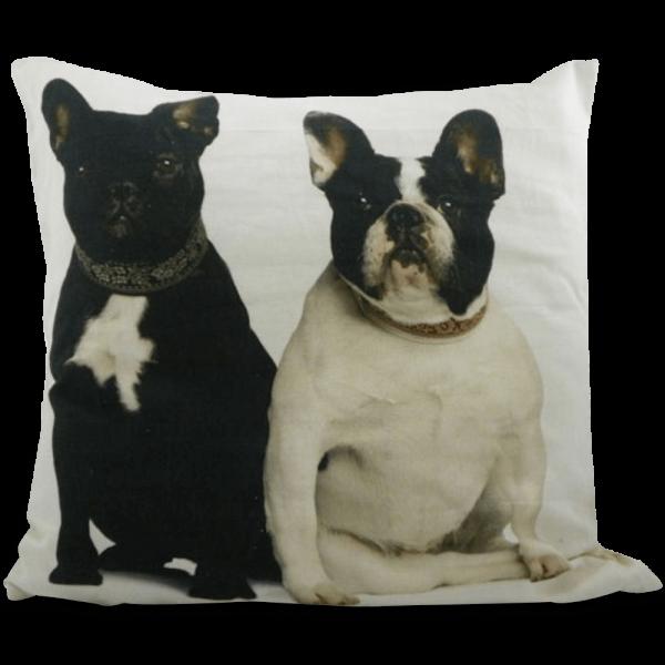 Kissen mit zwei Französischen Bulldoggen