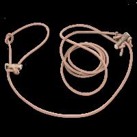 Lautlose Pirschleine, Rundleder, 180 cm x 6 mm, natur