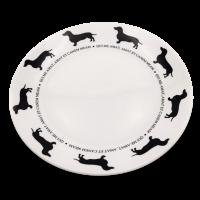 Teller mit Hundemotiv Victoria Armstrong Collection Teckel / Dackel / Dachshund