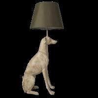 Windhund Lampe beige