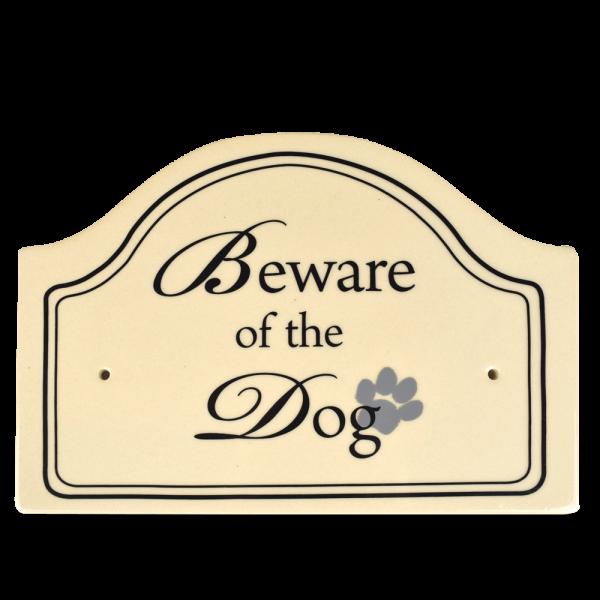 Hinweisschild: Beware of the dog