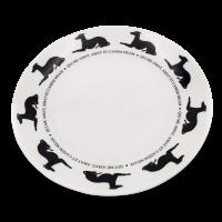 Teller mit Hundemotiv Victoria Armstrong Collection Windhund