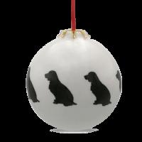 Christbaumkugel mit Hundemotiv Spaniel