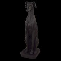 Skulptur Windhund sitzend