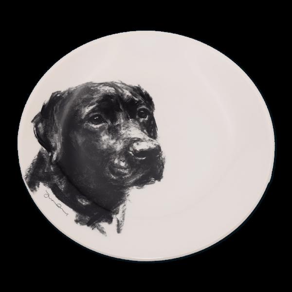 Teller mit Hundegemälden - Victoria Armstrong Collection