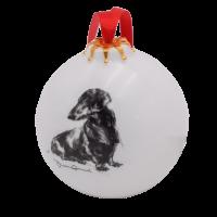 Weihnachtskugel mit Hundegemälde - Victoria Armstrong Collection Dackel