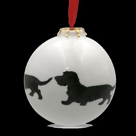 Christbaumkugel mit Hundemotiv