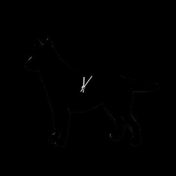 Wanduhr hund originelle wanduhr in form einer hunde silhouette - Originelle wanduhr ...