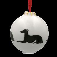 Christbaumkugel mit Hundemotiv Windhund