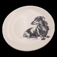 Teller mit Hundegemälden - Victoria Armstrong Collection Dackel